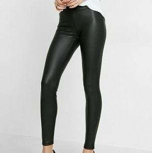 Express faux leather nylon leggings